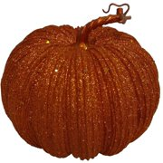 7 glitter orange pumpkin decoration - Plastic Pumpkins