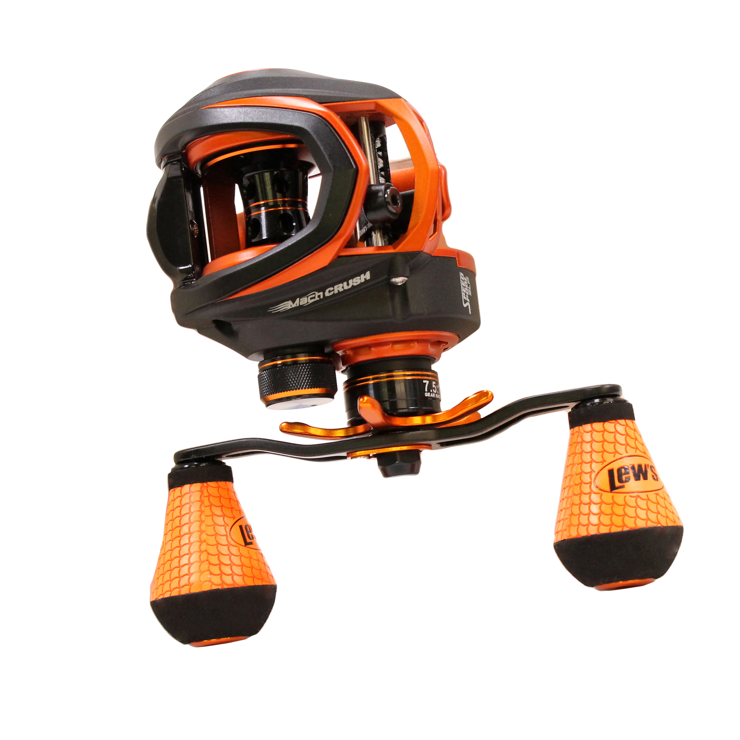 "Lews Fishing Mach Crush Speed Spool SLP Series 7.5:1 Gear Ratio, 30"" Retrieve Rate, 9+1 Bearings, Right Hand"