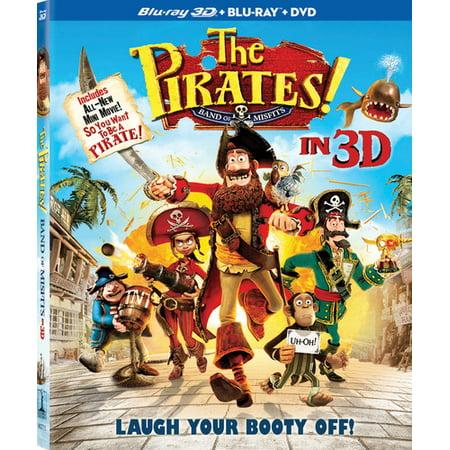The Pirates!: Band of Misfits (Blu-ray + Blu-ray + DVD)