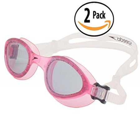 Speedo Womens Swimming Goggle 2 Pack Ad Curved Pink Lens With Anti Fog System