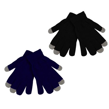 Winter Knits Kit - 2 Pack Women's Texting Gloves Winter Knit Touch Screen Glove - iPhone Samsung