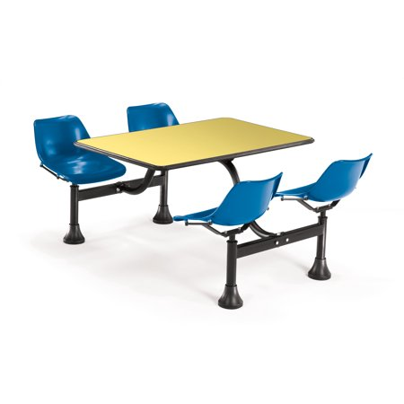 BLUEYLW Group Seating Restaurant Cafe Furniture Cluster Table - 4 top restaurant table