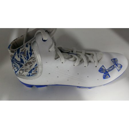 d3530d975df New Under Armour Banshee Mid MC Molded Lacrosse Cleats Mens Size 7.5  Royal White - Walmart.com