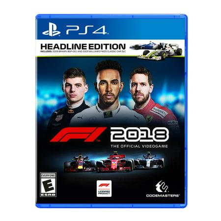 F1 2018 Headline Edition, Square Enix, PlayStation 4,