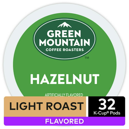 Green Mountain Coffee Hazelnut Flavored K-Cup Pods, Light Roast, 32 Count for Keurig Brewers