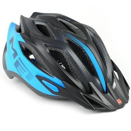 MET Crossover Bike Helmet // Matte Cyan/Black // - Ny Mets Helmet