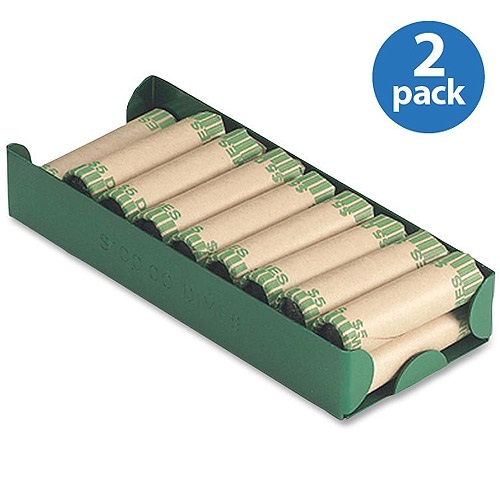 (2 Pack) MMF Aluminum Coin Trays, Green, 1 (Quantity)