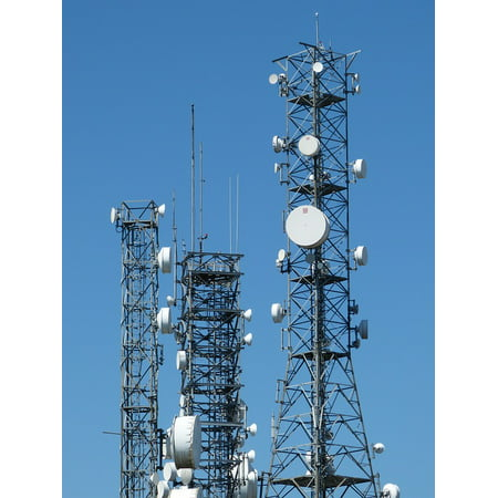 LAMINATED POSTER Mobile Phone Tower Antenna Send Telecommunications Poster Print 24 x