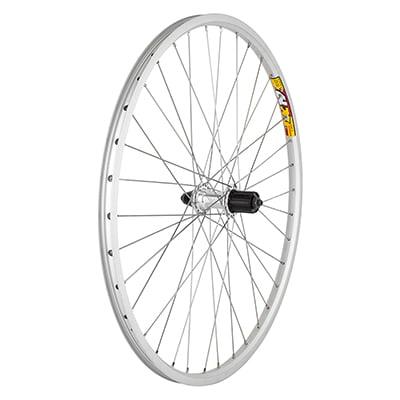 Wheel Rear 26x1.5 Weinmann ZAC19 Silver 36 Alloy 8S CASS