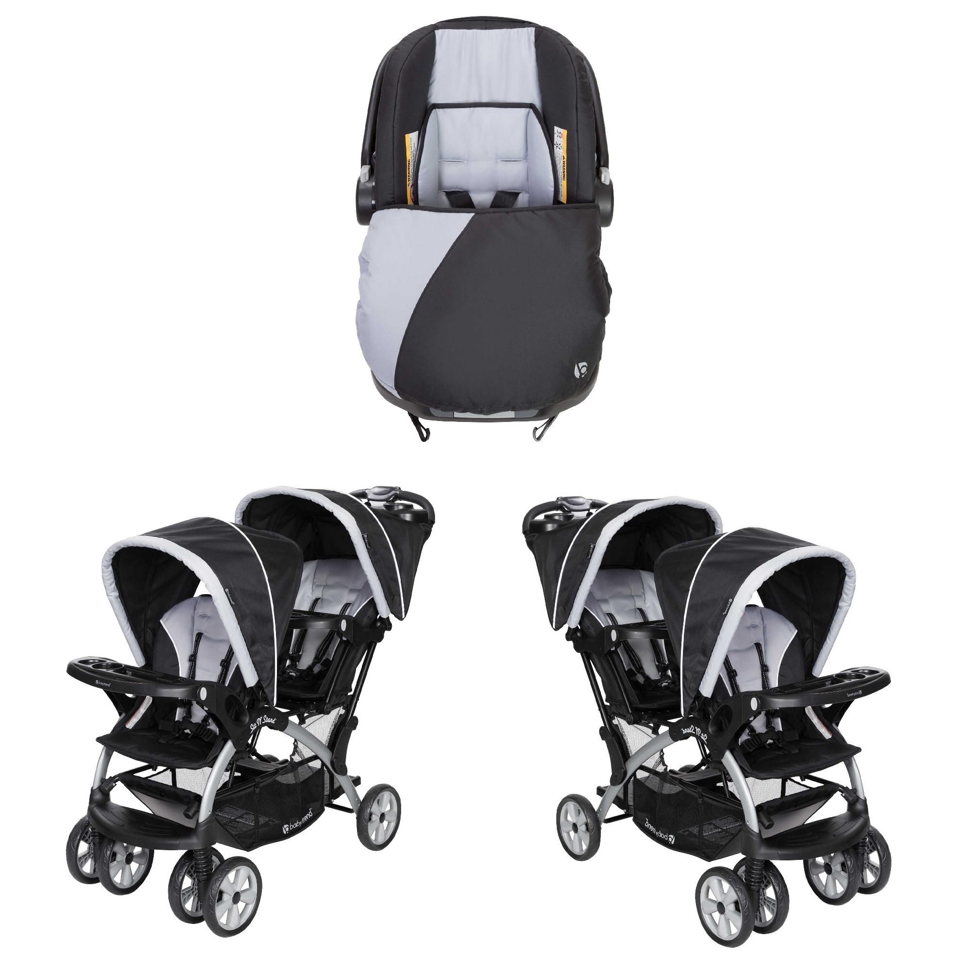 Baby Trend Infant Car Seat & Base w/ 2 Seat Double ...