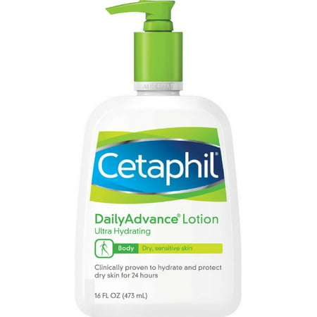 Dailyadvance Ultra Hydrating Lotion - Cetaphil DailyAdvance Ultra Hydrating Lotion for Dry/Sensitive Skin 16 oz (Pack of 2)