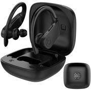 Wireless Sport Headphone, Bluetooth 5.0 Running Headset with Earhooks Charging Case for iPhone 12 11 Pro Max XS Samsung Android & MoreTWS, Black
