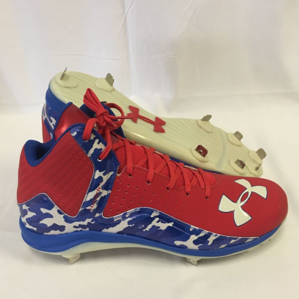 Yard Mid ST Baseball Cleats Red