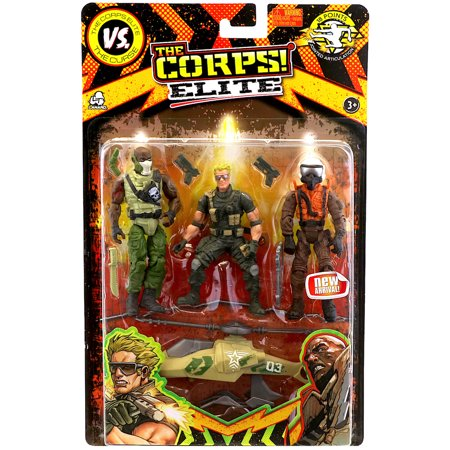 Action Helicopter - Corps Elite Action Figure Set 3.75