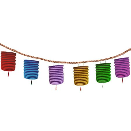 Colored Lanterns (Christmas Multi Colored Hanging Honeycomb Paper Lanterns With Tassel - Colorful Hanging Garland - Set of 6. Great Outdoor Party)