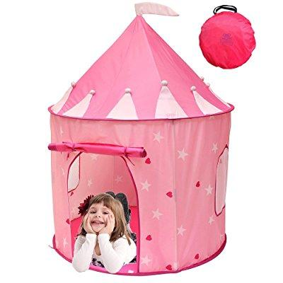 kiddey little princess castle play tent (pink) glow in the dark stars indoor/  sc 1 st  Walmart & Princess Tents