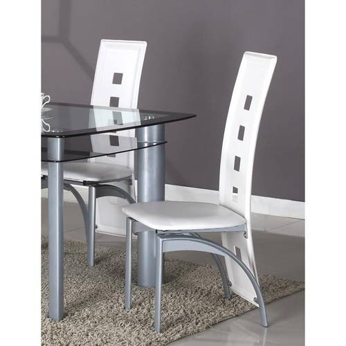 Roundhill Cinda Metal Contemporary Dining Room Chairs, Set of 2, Multiple Colors Available