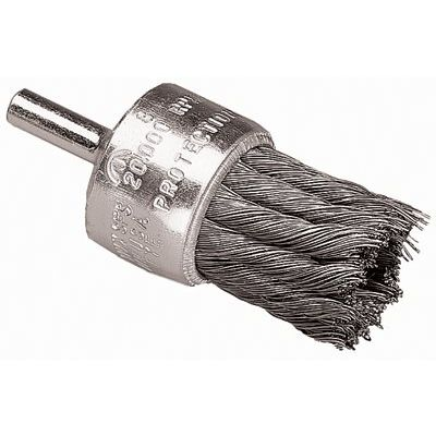 "Image of 1"" Knot Wire End Brush Coated Flared Cup .010 Ss"
