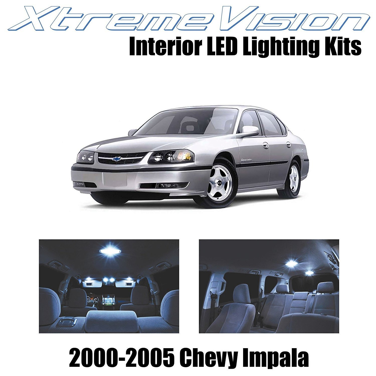 XtremeVision LED for Chevy Impala 2000-2005 (16 Pieces) Cool White Premium Interior LED Kit Package + Installation Tool Tool