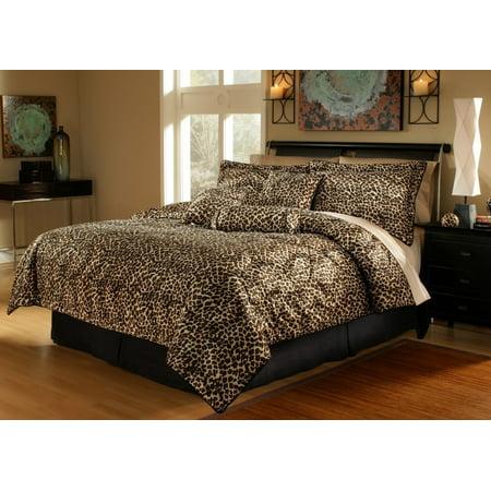 11 Piece Leopard Animal Kingdom Bed In A Bag Walmart Com