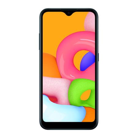 Straight Talk SAMSUNG Galaxy A01, 16GB Black - Prepaid Smartphone