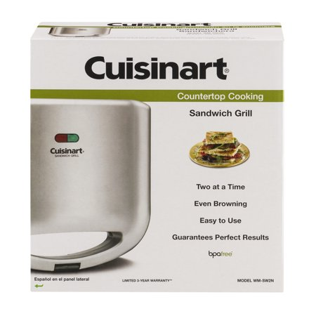 UPC 086279001818 product image for Cuisinart Sandwich Grill - Nonstick Baking Plates, Raised Edges, Deep Pockets, L | upcitemdb.com