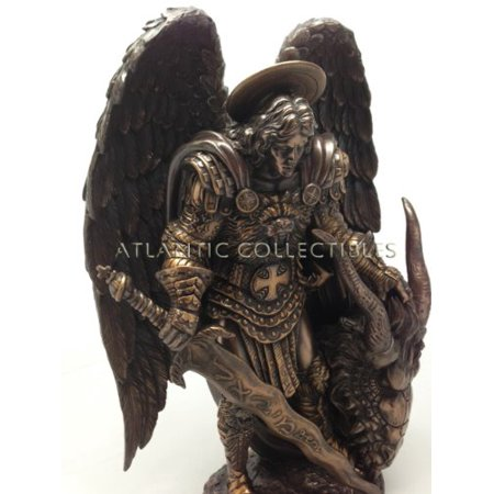 SAINT MICHAEL ARCHANGEL GUARDIAN PROTECTOR STATUE POST ARMAGEDDON -