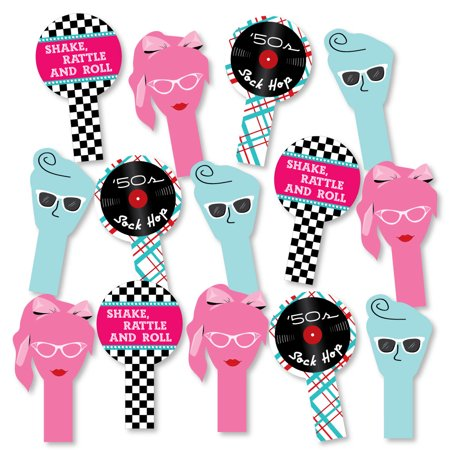 50s Sock Hop 1950s Rock N Roll Party Paddle Photo Booth Props