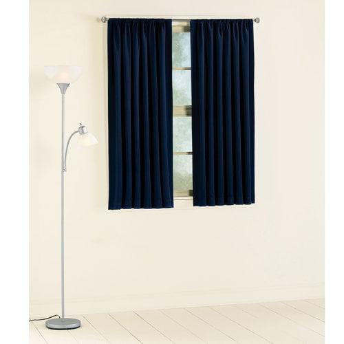 Mainstays Room Darkening Curtain Panel Navy Walmart Com