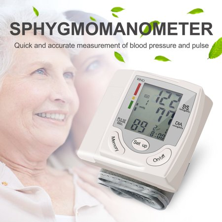 Blood Pressure Cuff Monitor Upper Arm, Auto Pulse Rate Systolic Diastolic BP Tracker, Irregular Heartbeat & Hypertension Detector, Backlit Display - image 7 of 8