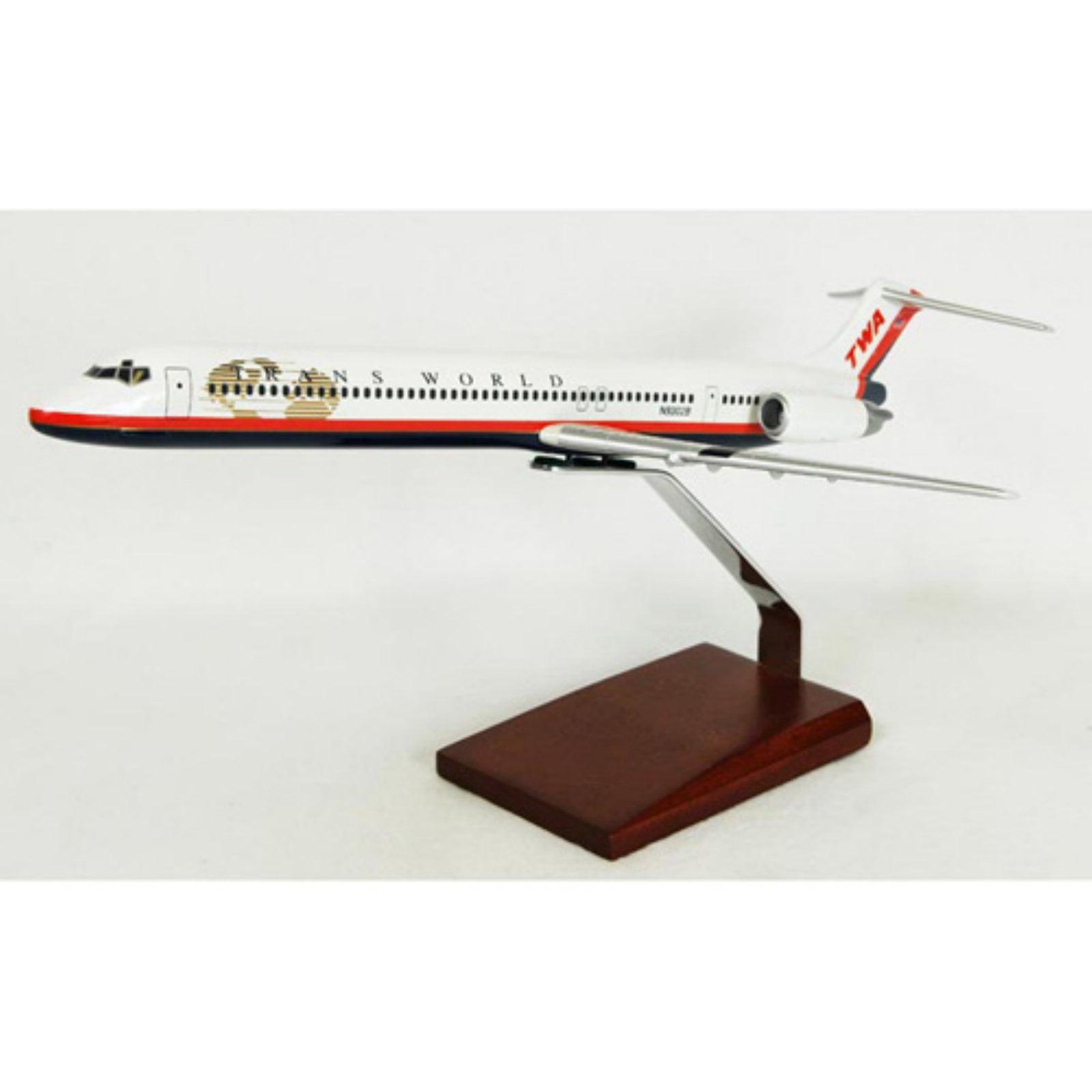 Daron Worldwide McDonnell Douglas MD-80 TWA Model Airplane by DARON