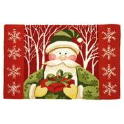 Santa In White Forest Doormat