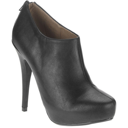 Heart in D Women's Bank Bootie Heel with Zipper