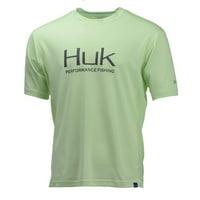 Huk Men's Icon Short Sleeve Fishing Shirt H1200137 (Key Lime, Large)