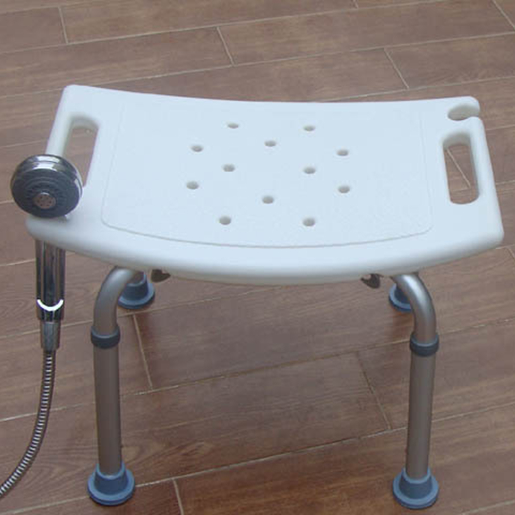 new outad bath safety shower stool non slip chair light weight bench white with - Shower Stool