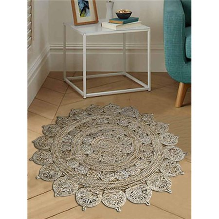 Hand Woven Jute Natural Vintage Round