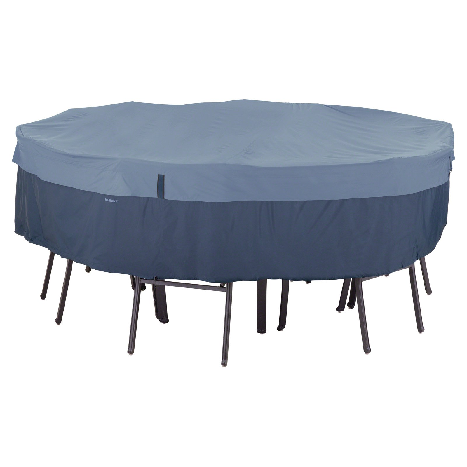 Classic Accessories Belltown Round Table And Chair Patio Furniture Storage  Cover, Large, Skyline Blue