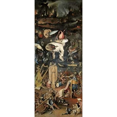 Right Outdoor Art (Garden of Earthly Delights - Detail Right Panel Canvas Art - Hieronymus Bosch (24 x 48) )