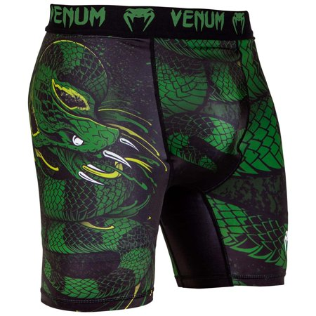 Venum Men's Green Viper Compression Shorts MMA BJJ