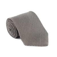 98f63be591 Product Image Tom Ford Tonal Zip Zag Silk Blend260 Brown Beige Tie
