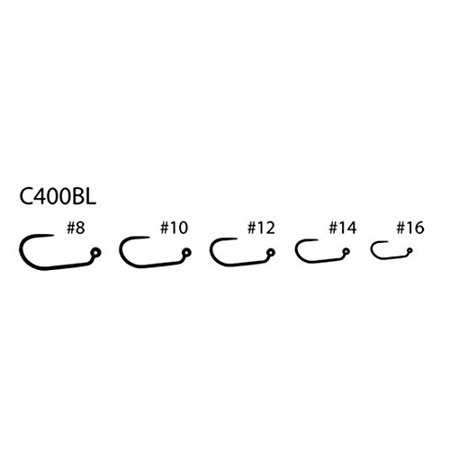 Competition Series Fly Tying Hooks C400BL 25Pk 16 60 degree Jig Hook, 60  degree Jig Hook for use with beads By Umpqua Ship from US