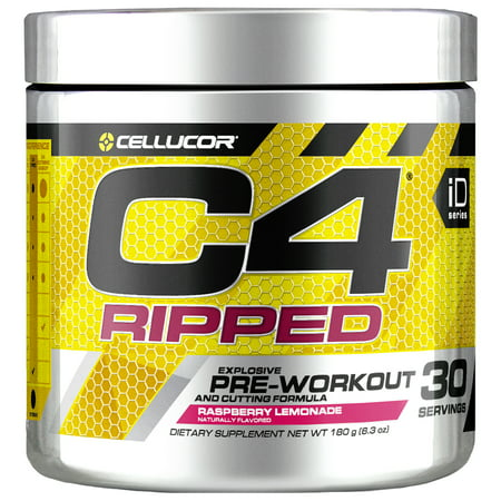 Cellucor C4 Ripped Pre Workout Powder, Thermogenic Fat Burner & Metabolism Booster for Men & Women, Raspberry Lemonade, 30 Servings](c4 pre workout cheapest price)