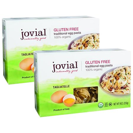 (2 Pack) Jovial Gluten Free Organic Egg Tagliatelle, 9 Oz