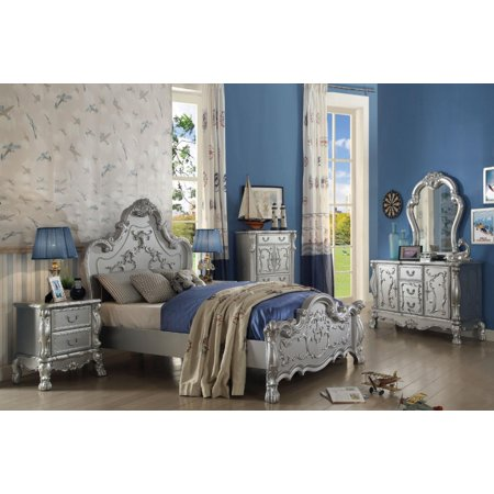 Acme Furniture 30675F Dresden Kids Silver Full Bedroom Set 4Pcs Traditional