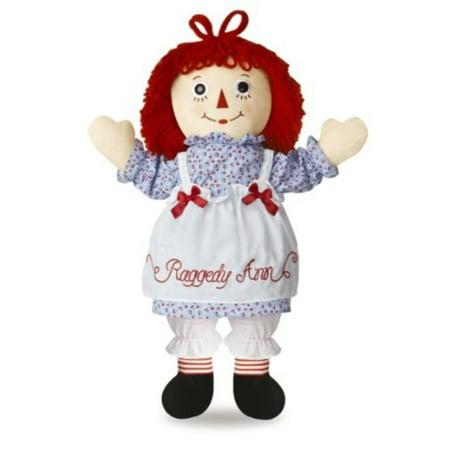 Raggedy Ann Plush Doll (Aurora World Raggedy Ann Classic Doll)