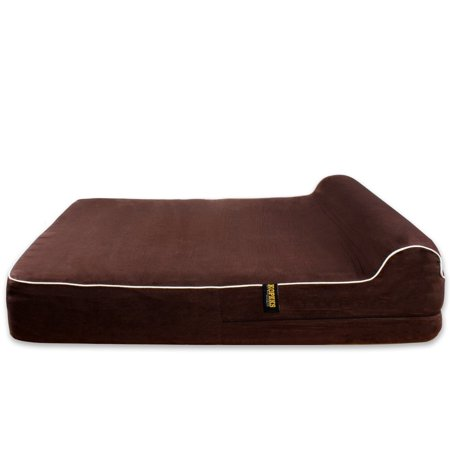 Dog Bed Replacement Cover for KOPEKS Memory Foam Beds - Brown - Large