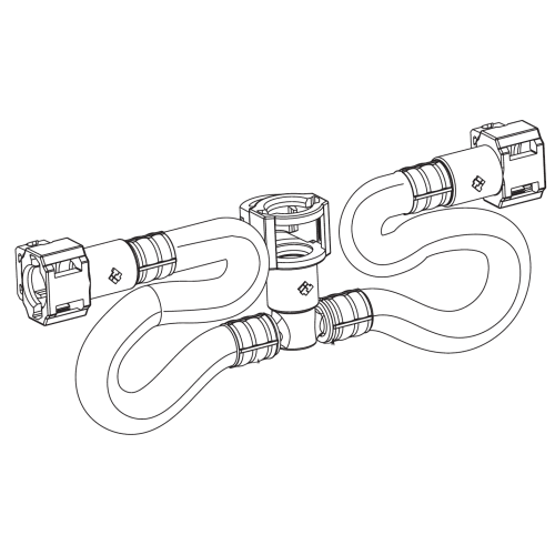 Moen 114299 Hose Kit for Two-Handle Kitchen Faucet or 9000 Series Lavatory Valve
