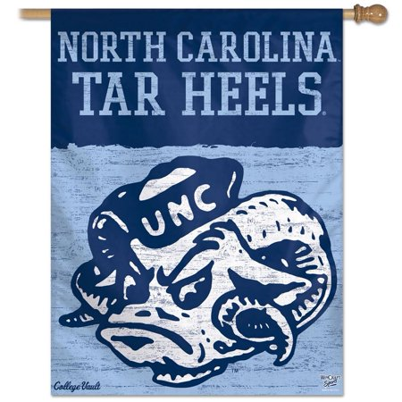 North Carolina Tarheels UNC Throwback House Flag Banner
