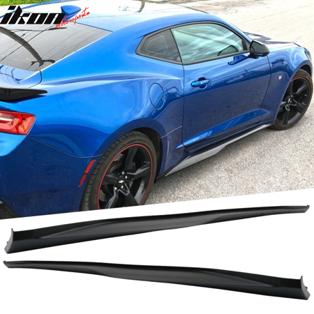 Fits 16-19 Chevrolet Camaro ZL1 Style Side Skirts Polypropylene Pairs