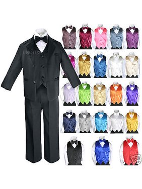 bb3f02dd35b Product Image 14 Color 7pcs Baby Boy Formal Wedding Black Suits Tuxedo  Extra Vest Bow Tie S-